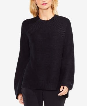 Vince Camuto Raglan-Sleeve Sweater - Black L