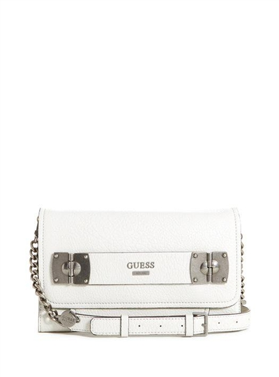 Guess Britta Ladies Large Faux Wallet White