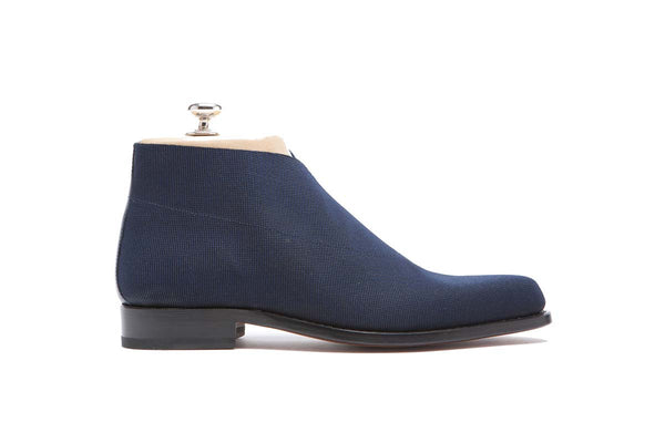 Boots Elastic Color: Blue Shape: 0255P Sole: Rendebach Construction: Blake Rapid Made in Italy