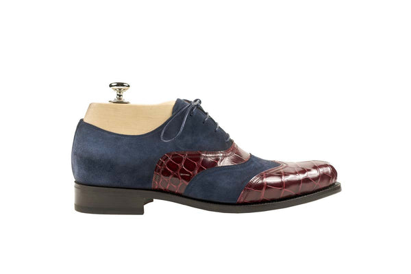 Derbies Colors: Blue and Bordeaux Shape: 0657 Sole: Rendebach Construction: Goodyear Closed