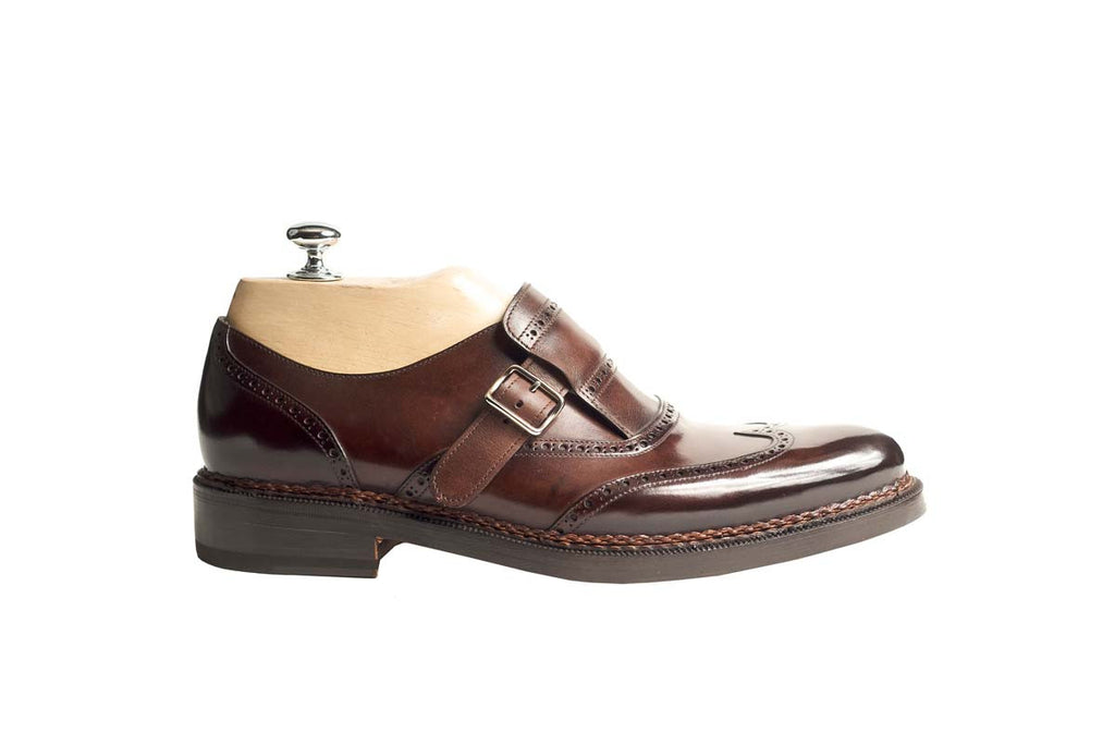 Monks Veal Puy Color: Brown Shape: 0480 Sole: Rendebach Construction: Goodyear Open - Norwegian Braid