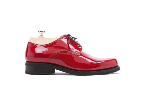 Derbies Veal Puy - Patent Color: Red Shape: 0269 Construction: Blake Rapid Made in Italy