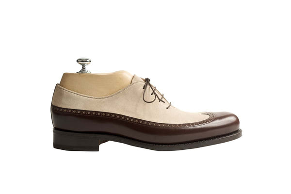 Oxfords Veal Puy / Vidon Colors: Brown and Sand Shape: 0657 Sole: Rendebach Construction: Goodyear Open