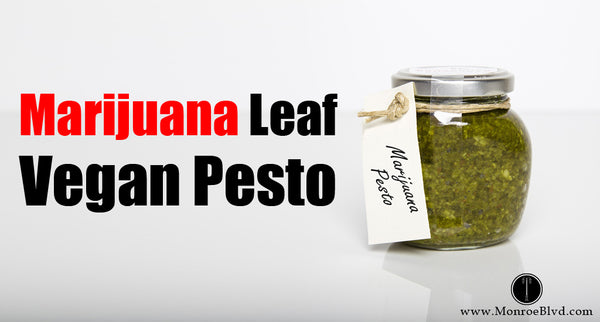 Marijuana Leaf Vegan Pesto