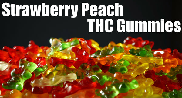 Strawberry Peach THC Gummies