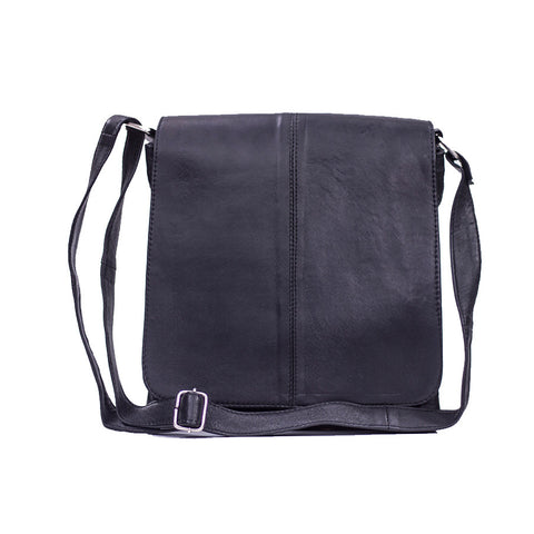 Leather Shoulder Bag In Black