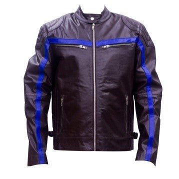 Blue Line Leather Sports Jacket