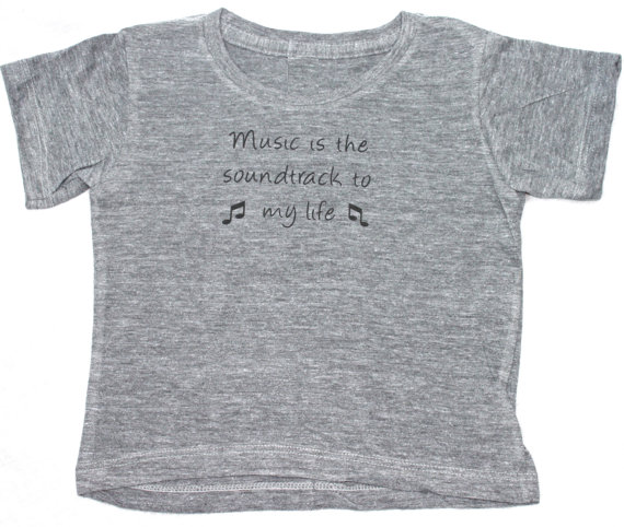 Music is the Soundtrack to my Life Kids T-Shirt