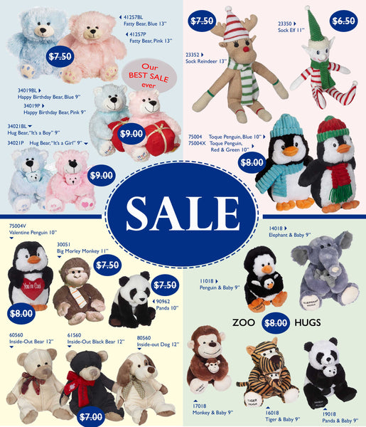 Sale Stuffed animals 2017