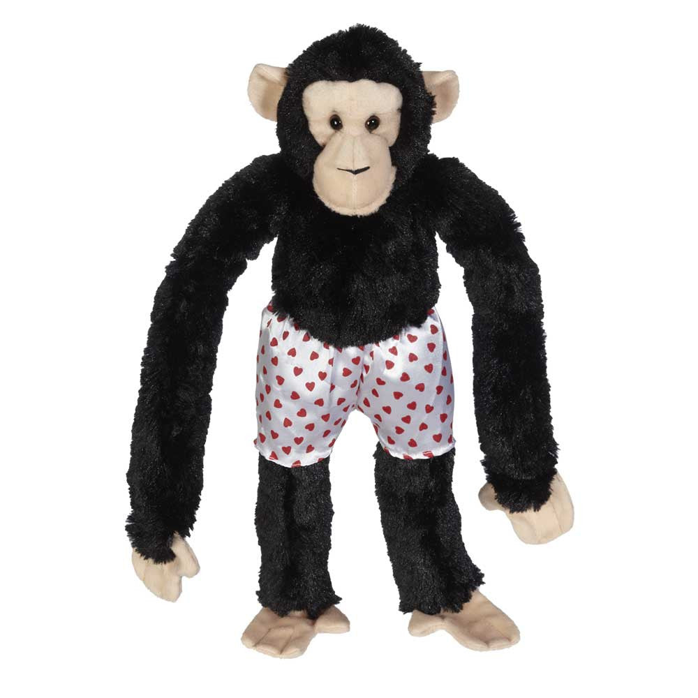 "Long Legs Chimp with Heart Boxer Shorts 17"" - 10393V"