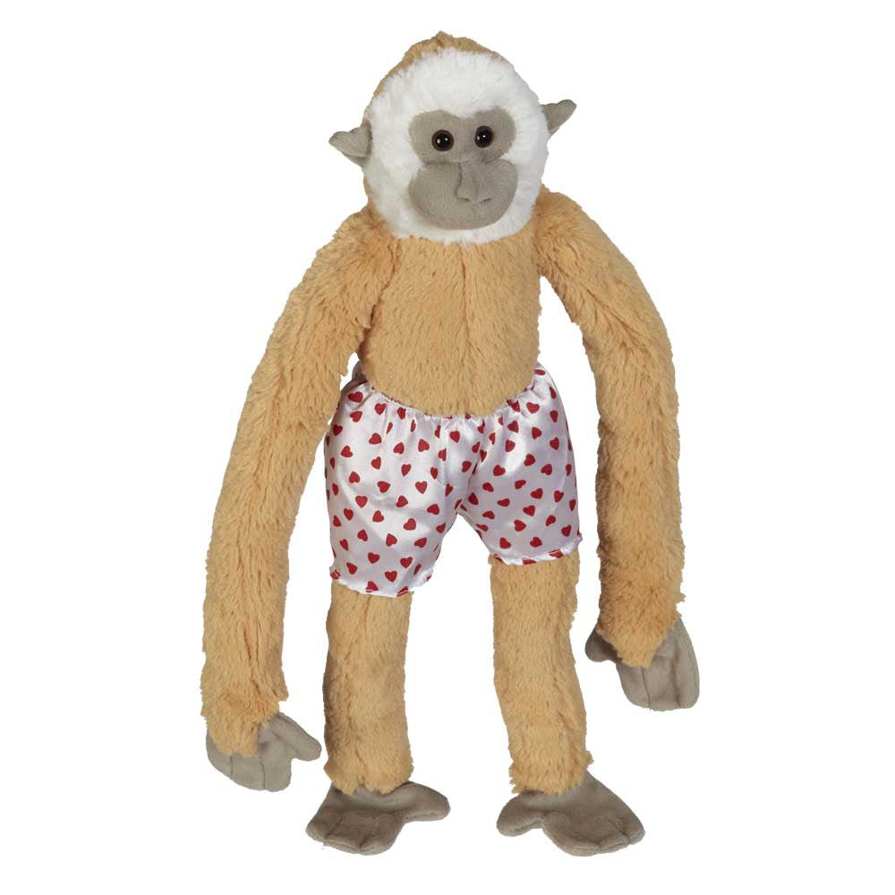 "Long Legs Monkey with Heart Boxer Shorts 17"" - 10394V"