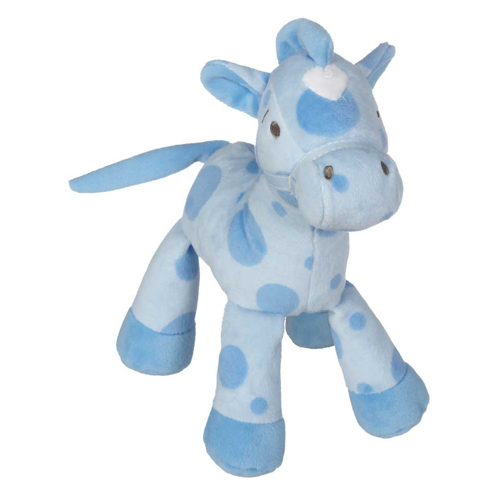 "Horsie with Rattle, Blue 9"" - 10395Bl"