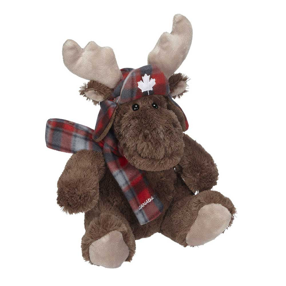 "Muffy Moose With Plaid Scarf 8""- 14180"