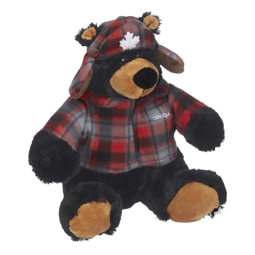 "Muffy Black Bear With Plaid Jacket 8""- 14181"