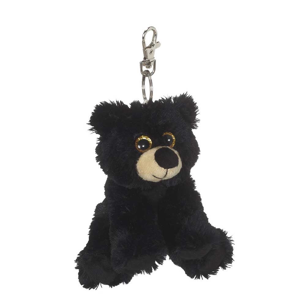 "Big Eye Black Bear Keychain 5""- 18792"