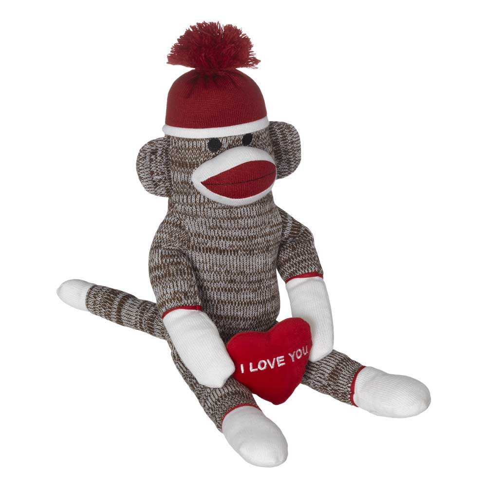 "Junior Valentines Sock Monkey 13""- 23348"