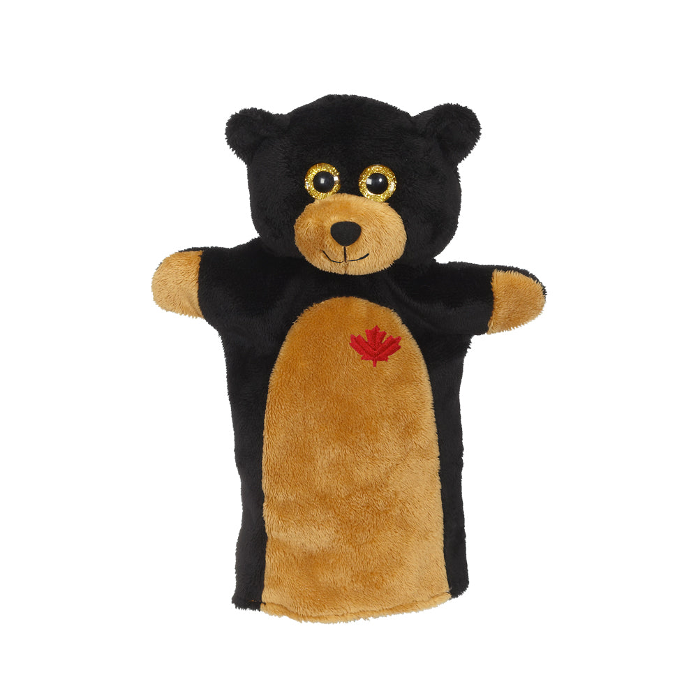 "Black Bear Hand Puppet 9""- 24792"