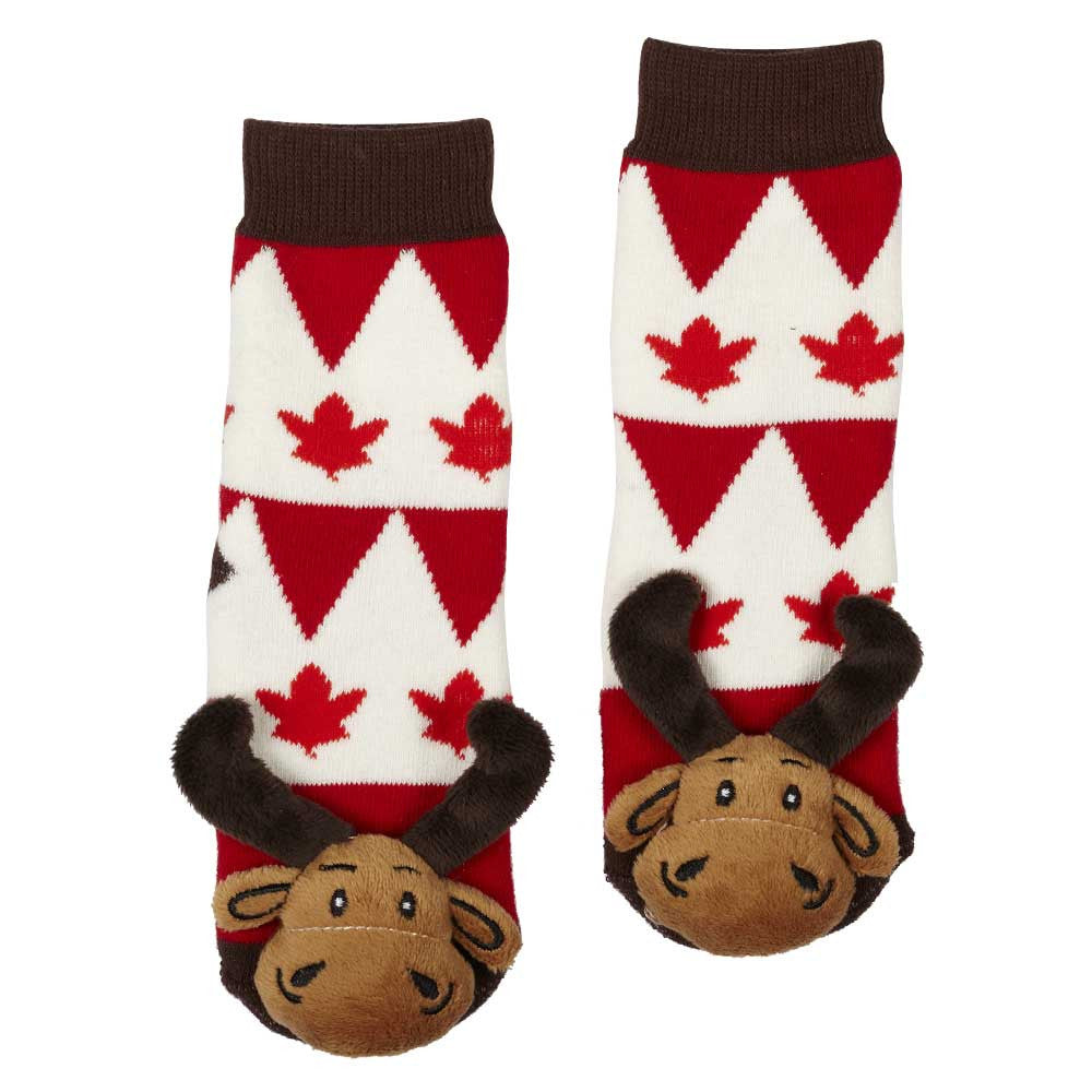 Maple Leaf Moose Socks- 27001