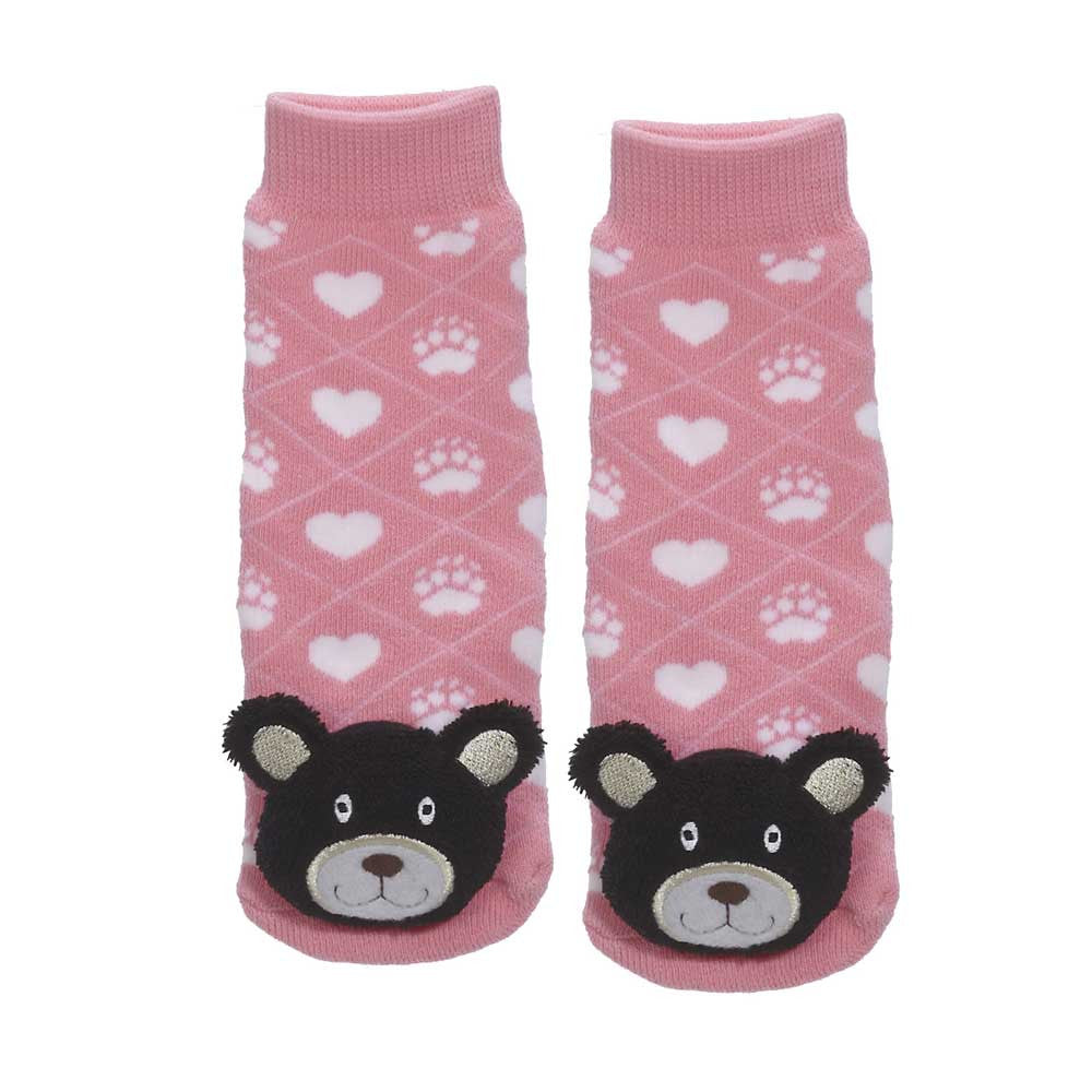 Black Bear Socks, Pink- 27023