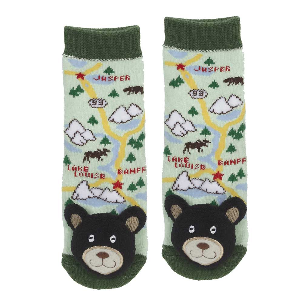 """Alberta"" Black Bear Socks - 27040"