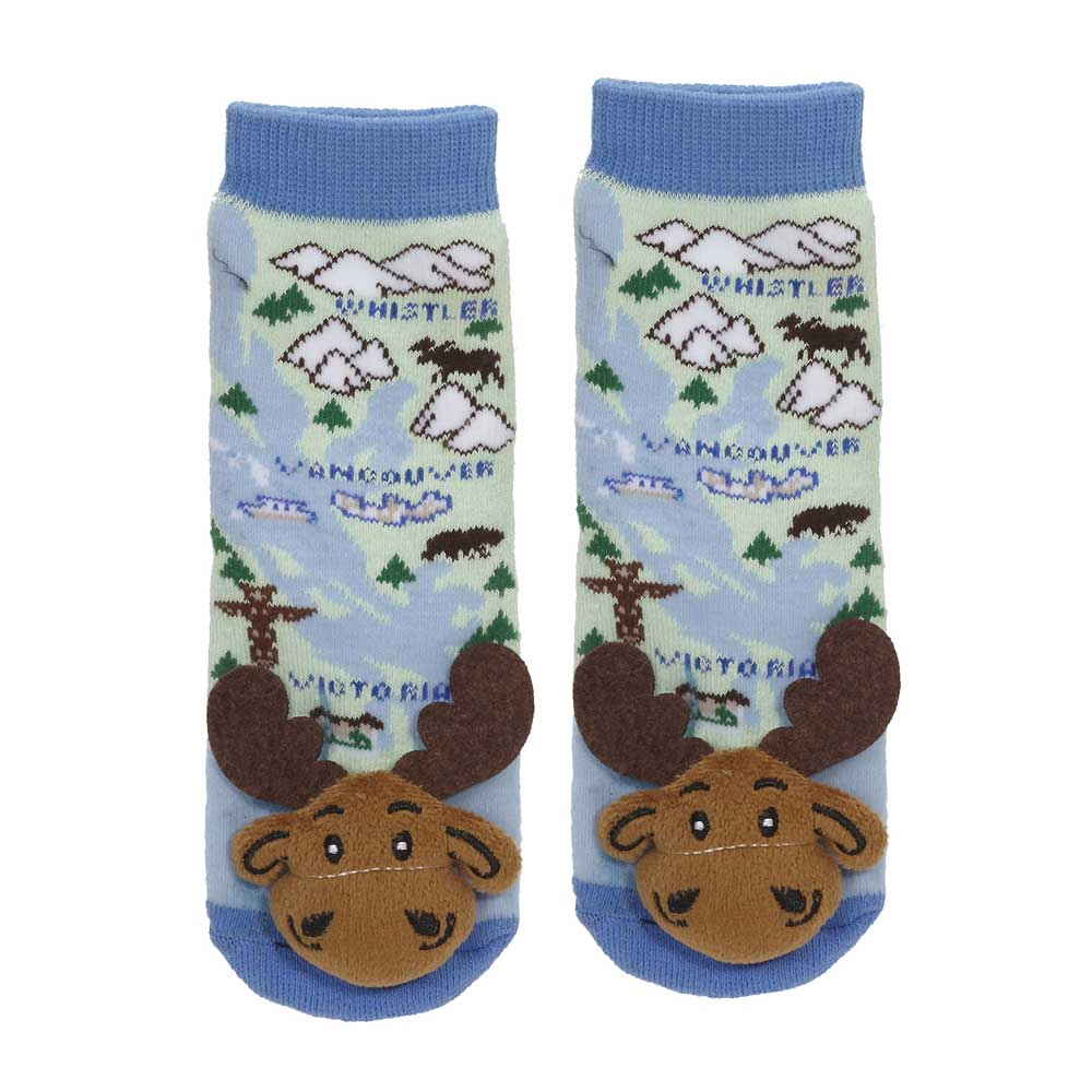 """British Columbia"" Moose Socks - 27041"