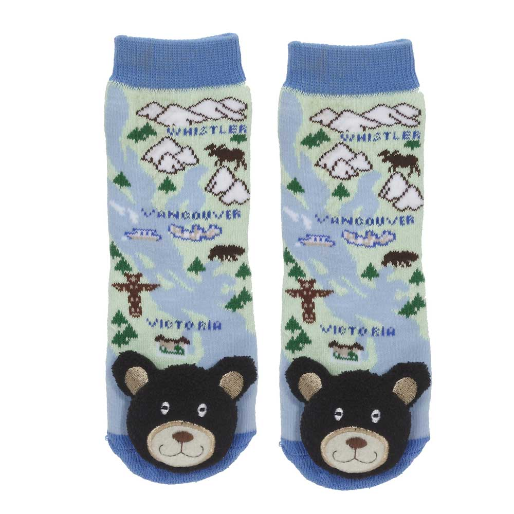 """British Columbia"" Black Bear Socks - 27042"