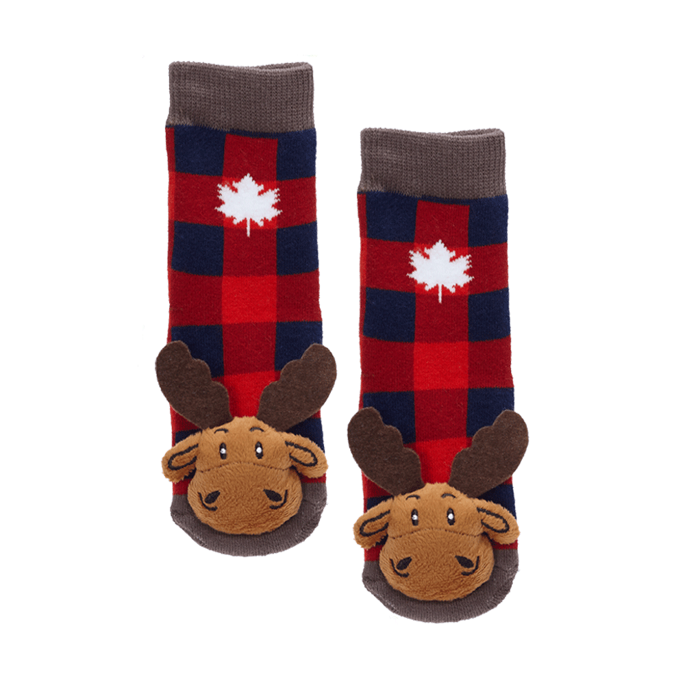 Plaid Moose w/Maple Leaf - 27053