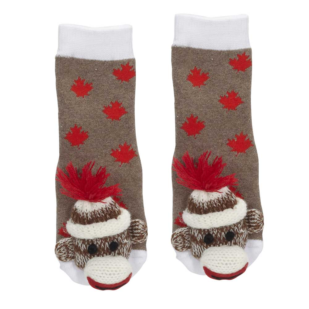 Canada Sock Monkey Socks - 28001