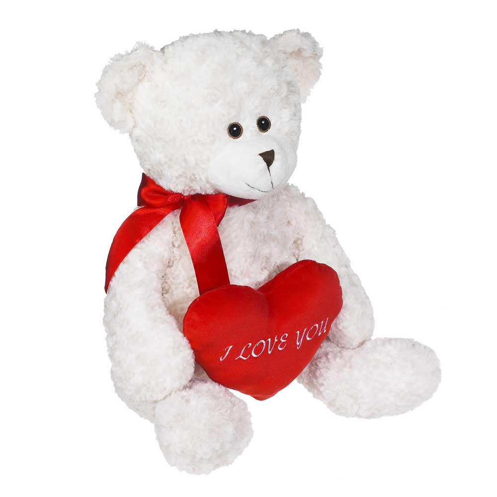 Super Jumbo Barnaby Bear with heart - 71730V