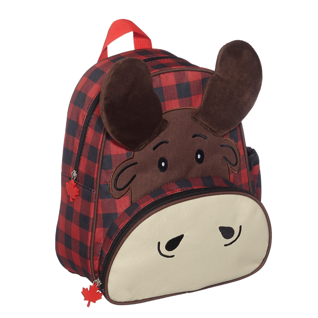 Moose Plaid Backpack