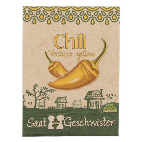 "Chili ""Vectura Yellow"" - Die Stadtgärtner - Saatgeschwister - urban kraut"