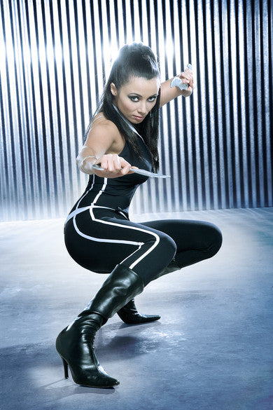 Rachel-Grant-catsuit-Bond girl