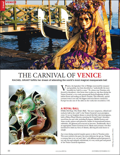 Travelife, Carnival of Venice