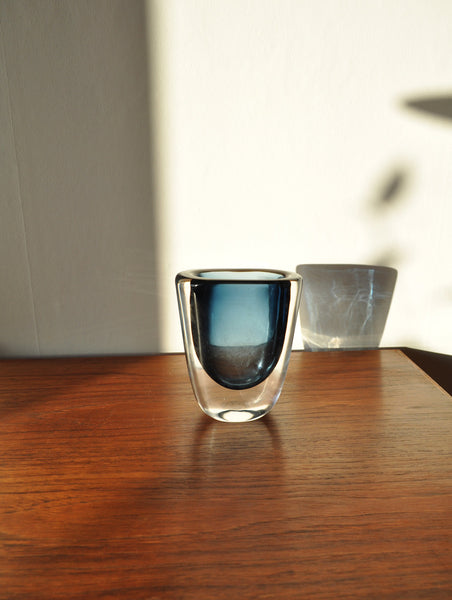 Orrefors vase designed by Nils Landberg from the 1950s