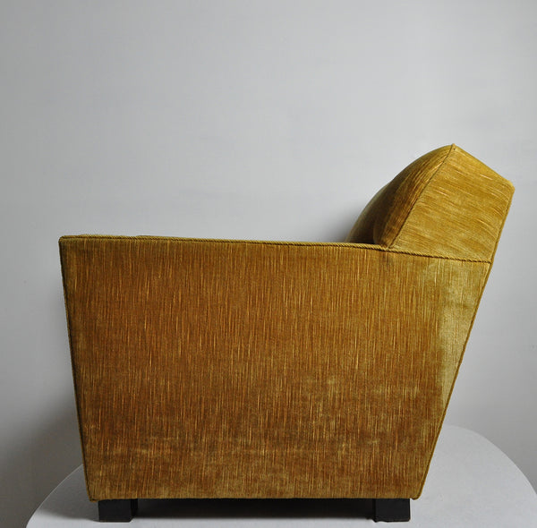 Early midcentury Lounge Chair in original velvet upholstery