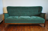 1940's Danish art deco three-seater sofa