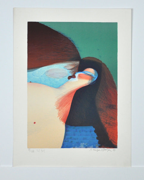Arne Haugen Sørensen, signed and numbered Lithograph, Denmark 1983