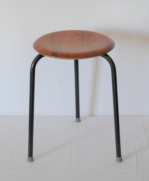 "Danish Modern ""Dot"" Stool designed by Arne Jacobsen for Fritz Hansen"