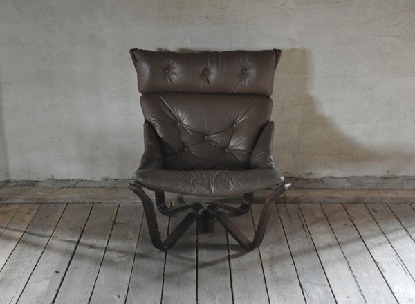 Rare and stunning norwegian easy chair, Model 'Viking' by norwegian Brunstad