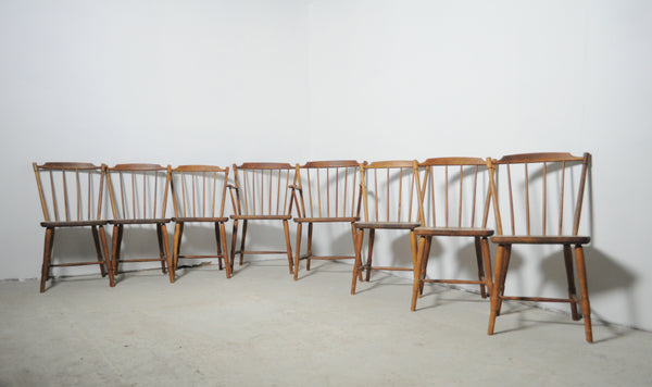Børge Mogensen dining chairs for FDB Møbler 1940s, set of 8