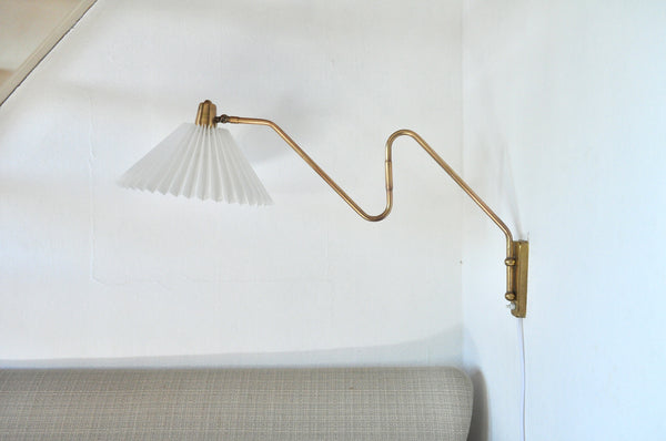 Brass Wall Lamp by Norwegian Astra in the 1950s