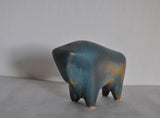 Danish abstract ceramic bull figurine by Børge Jørgensen