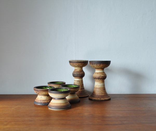 Scandinavian modern Ceramic candlesticks from Denmark