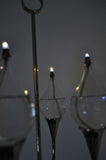 Clear Drops oil lamp candelabra by Freddie Andersen, Denmark