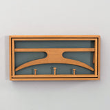 Oak coat rack by Adam Hoff & Poul Østergaard for Virum Møbelsnedkeri, 1950s