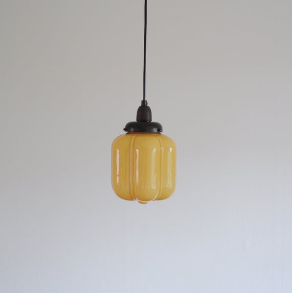Scandinavian Art Deco Opaline Glass Pendant Lamp, 1930s