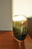 Danish multicoloured ceramic vase with glossy glazing