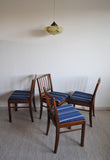 Set of 4 Danish dining chairs in the style of Jacob Kjær, 1940s