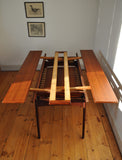 Danish vintage elevator teak coffee table
