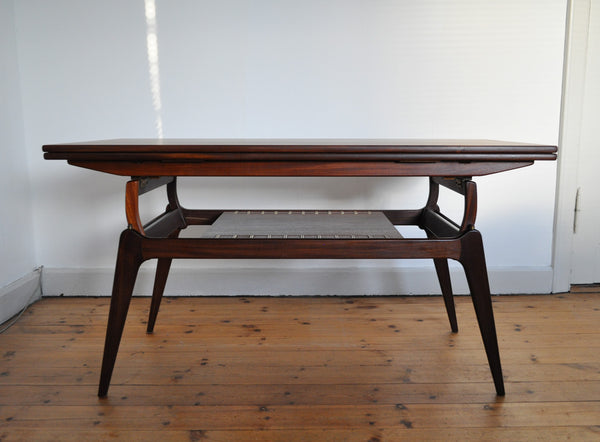 Vintage elevator teak coffee table